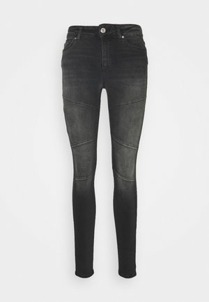 ONLBLUSH CUT LIFE - Jeans Skinny Fit - black denim