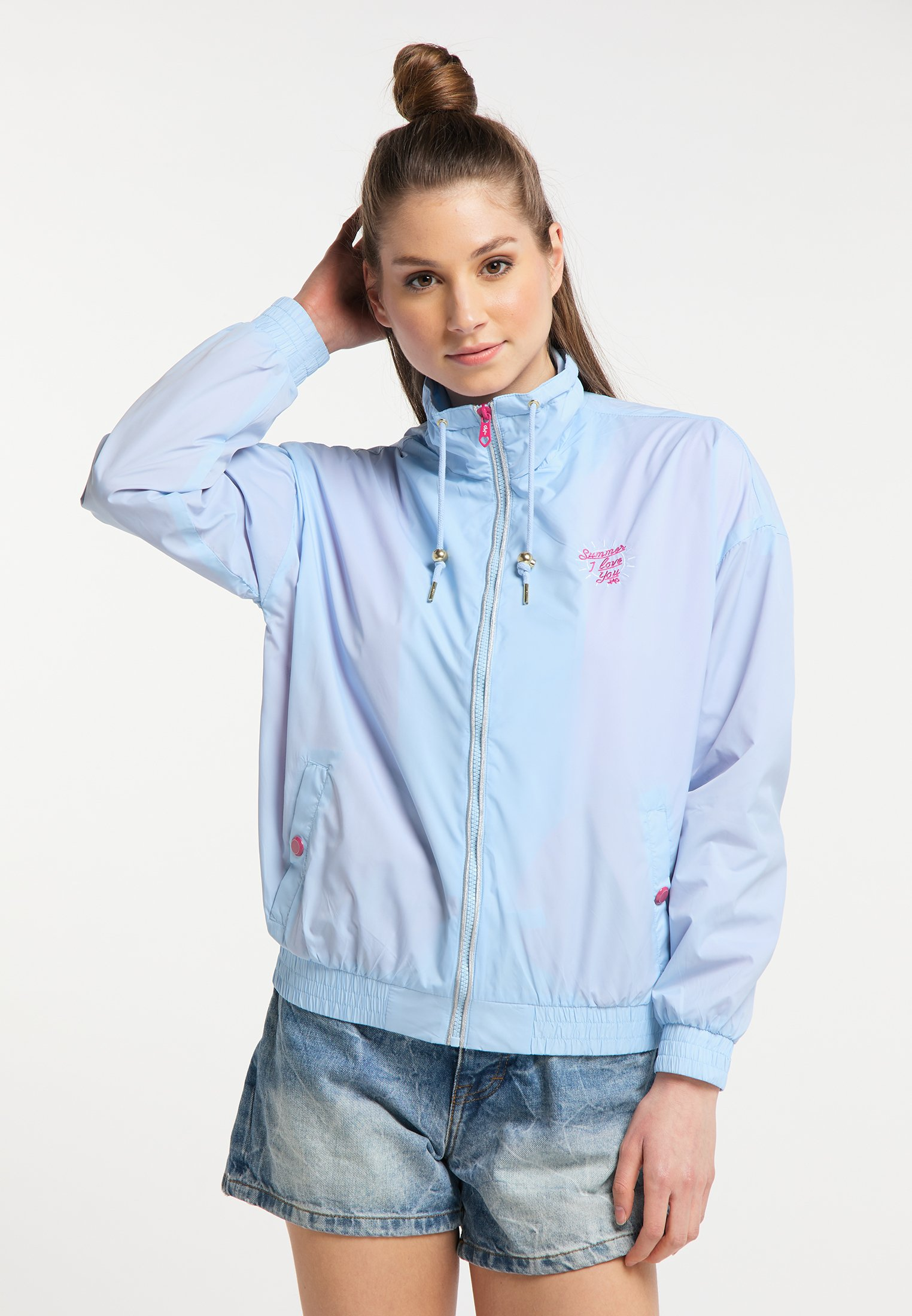 Best Place Women's Clothing myMo WINDBREAKER Summer jacket light blue jhT7WaRzl