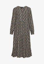PCFRYA MIDI DRESS - Robe d'été - black/misty rose flowers