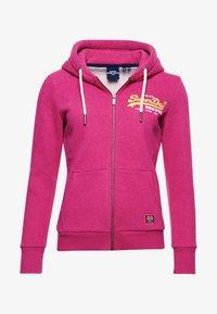 Superdry - Zip-up sweatshirt - magenta marl - 3