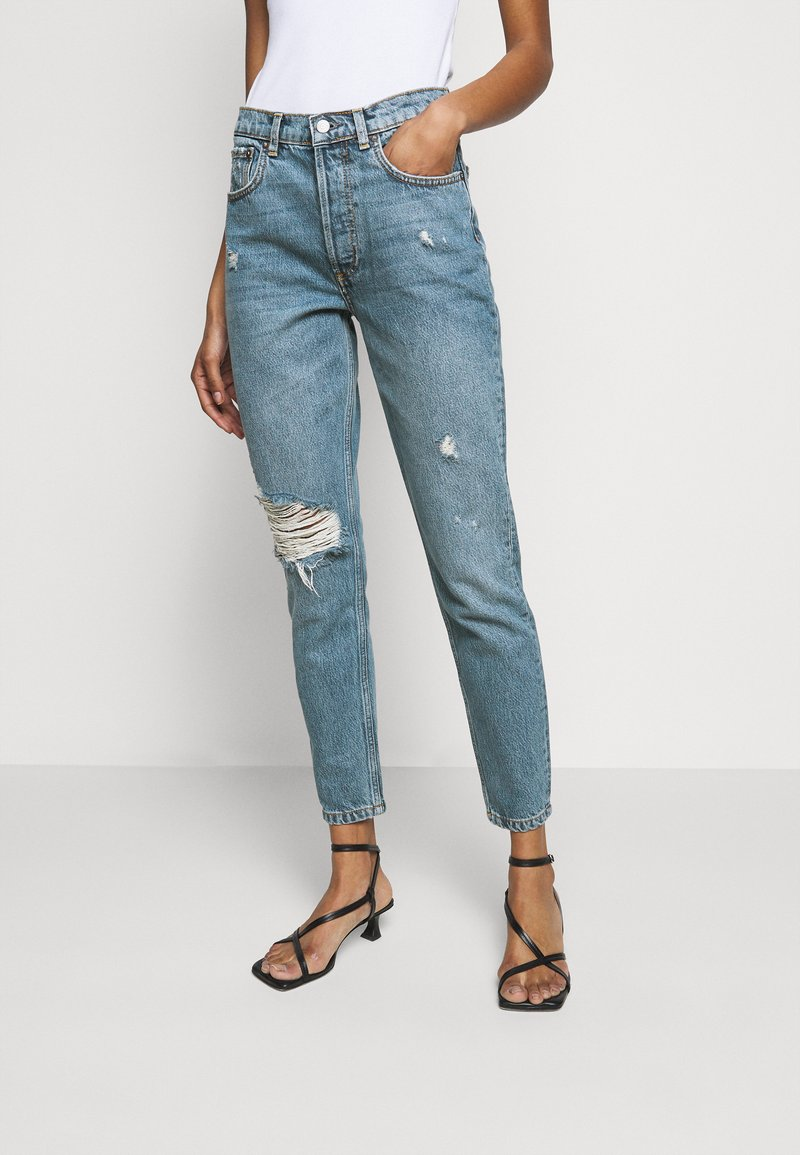 Boyish - BILLY HIGH RISE - Skinny džíny - blue denim