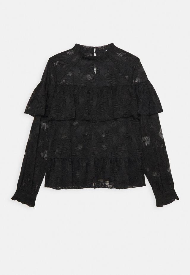 PEPLUM BLOUSE - Blouse - black