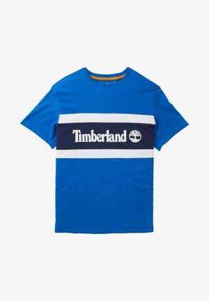 CUT AND SEW TEE - T-shirt z nadrukiem - nautical blue-dark sapphire