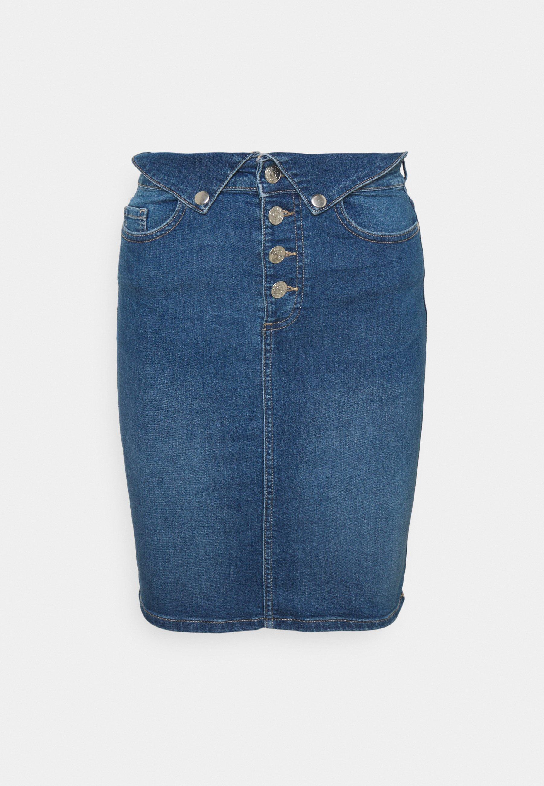 Femme ONLHUSH LIFE FOLD SKIRT - Jupe en jean