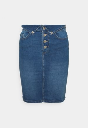 ONLHUSH LIFE FOLD SKIRT - Jeansskjørt - medium blue denim