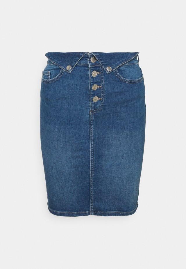 ONLHUSH LIFE FOLD SKIRT - Jupe en jean - medium blue denim