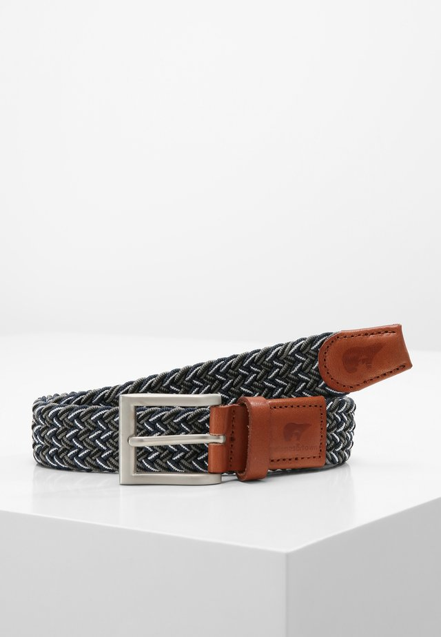 JUNIOR - Ceinture tressée - blue/grey