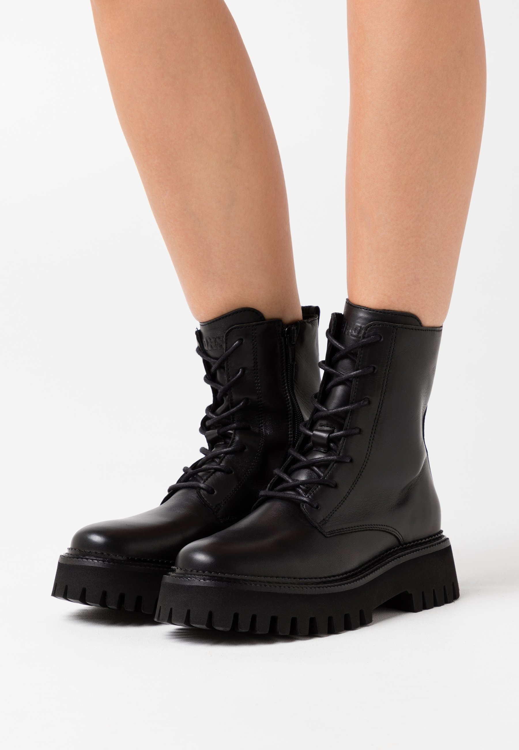 Classic Cheapest Bronx GROOV-Y - Platform ankle boots - black | women's shoes 2020 pEhyA