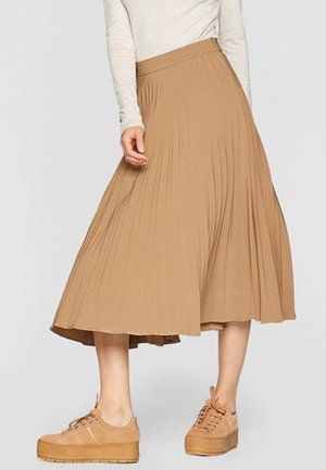 PLISSIERTER ROCK  - Pleated skirt - beige