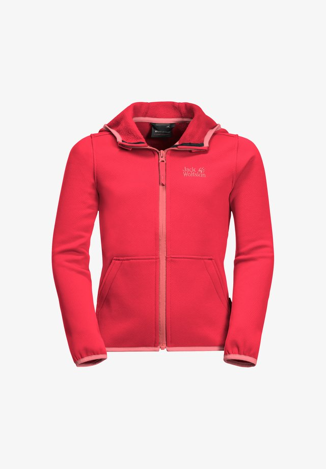 KIEWA  - Fleecejacke - tulip red