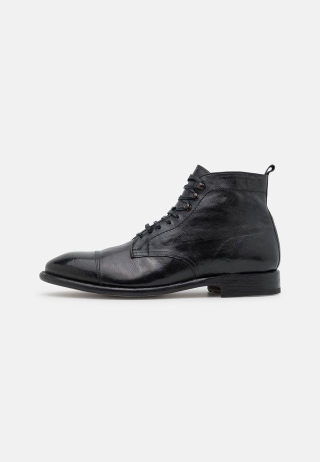 Lace-up ankle boots - washed black