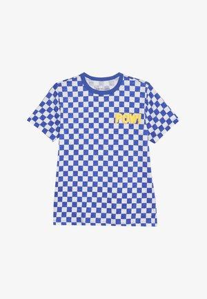 POW SLUB - Print T-shirt - blue/white