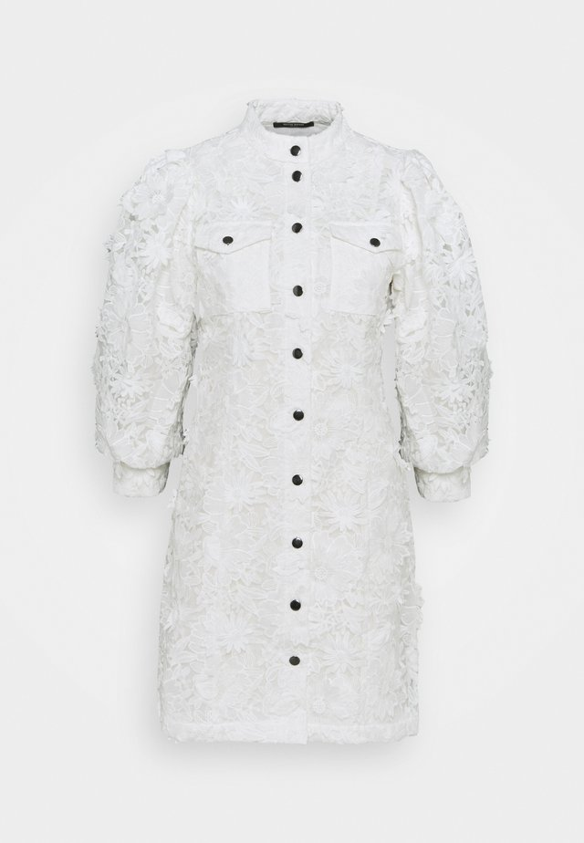 FIELDRUSH ADRINE DRESS - Shirt dress - snow white