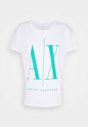Print T-shirt - white/eden green