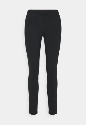 PANTS  ZIPS AT HEM  - Kalhoty - pure black