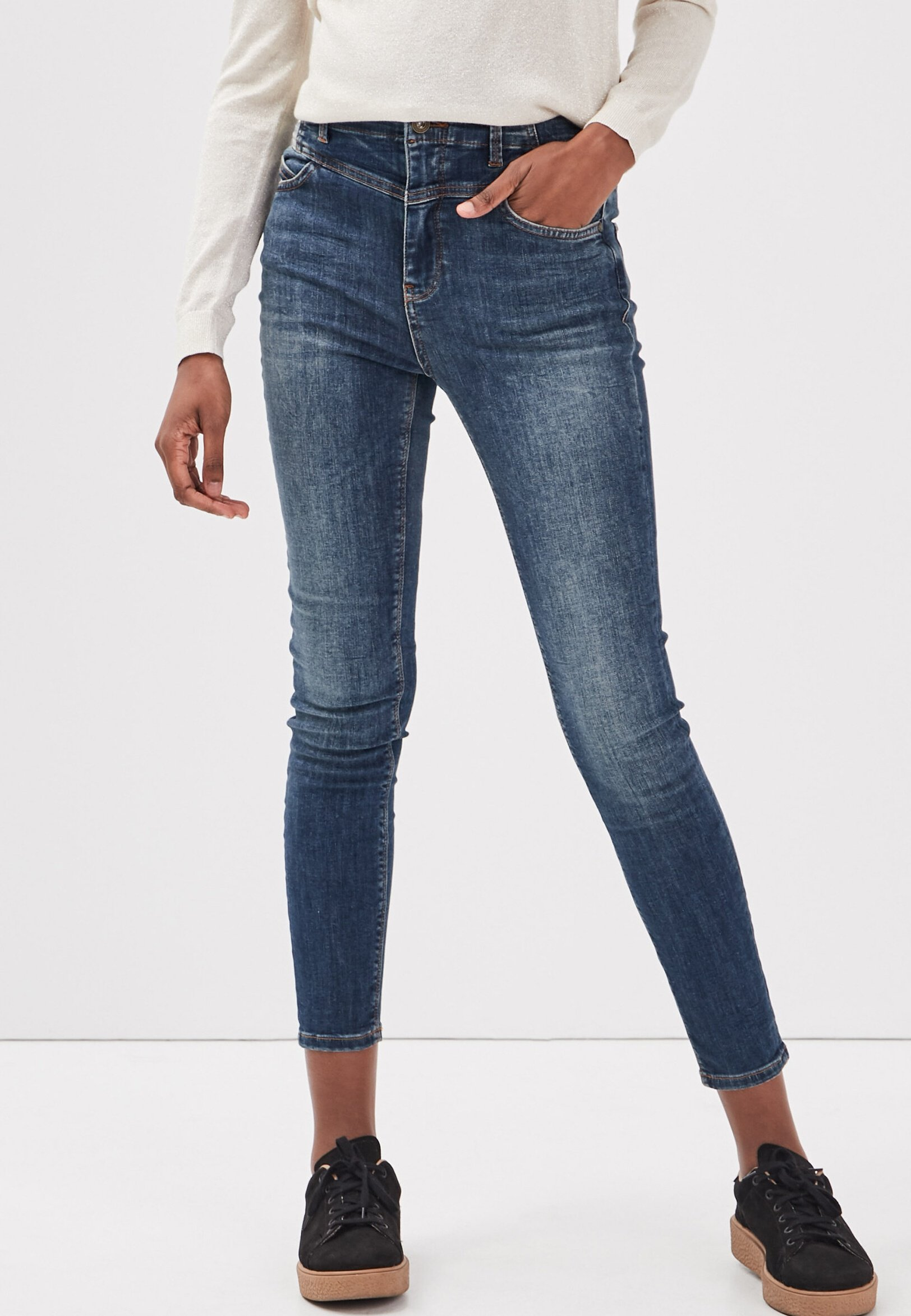 Damen mit hoher Taille - Jeans Skinny Fit