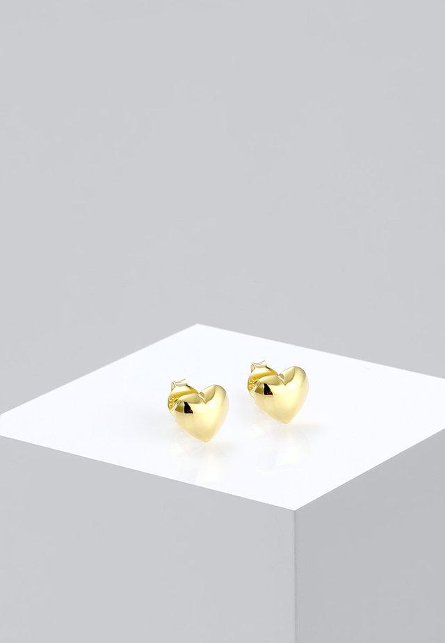 HERZ - Oorbellen - gold-coloured