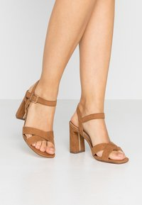 Dorothy Perkins - SELENA BLOCK  - High heeled sandals - tan - 0