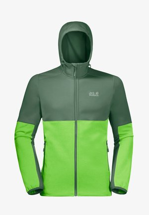 Soft shell jacket - leaf green