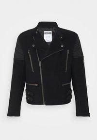 MOSCHINO - LONG JACKET - Faux leather jacket - black - 0