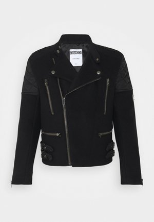 LONG JACKET - Faux leather jacket - black