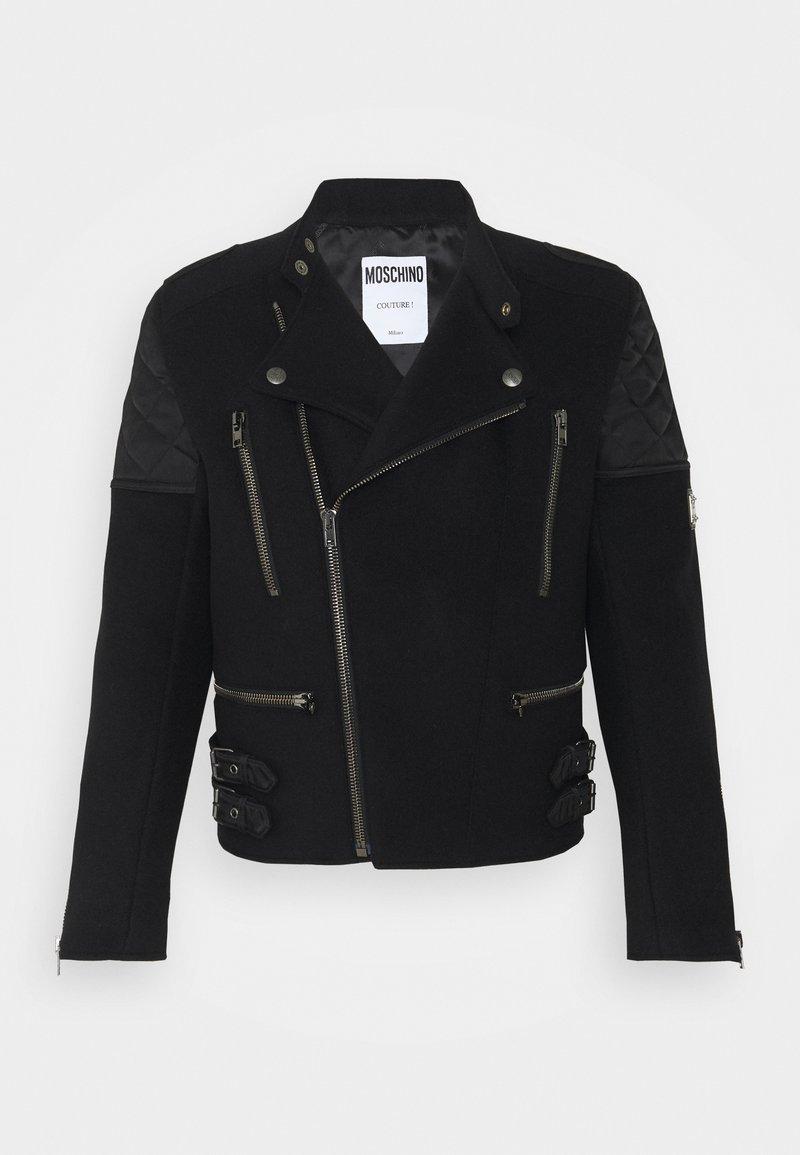 MOSCHINO - LONG JACKET - Faux leather jacket - black