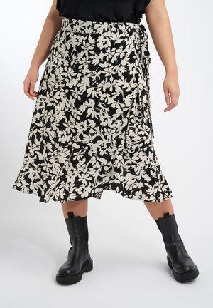 A-line skirt - multi zwart-wit