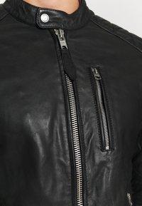 Schott - MARTIN - Leather jacket - black - 6