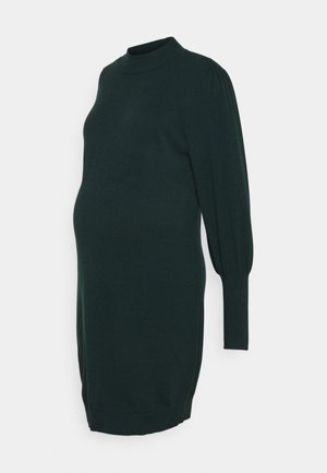 VMMHAPPYBLOCK PUFF HIGHNECK DRESS - Gebreide jurk - ponderosa pine
