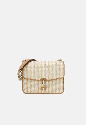 LARGE FLAP SHOULDER BAG - Across body bag - natural multi