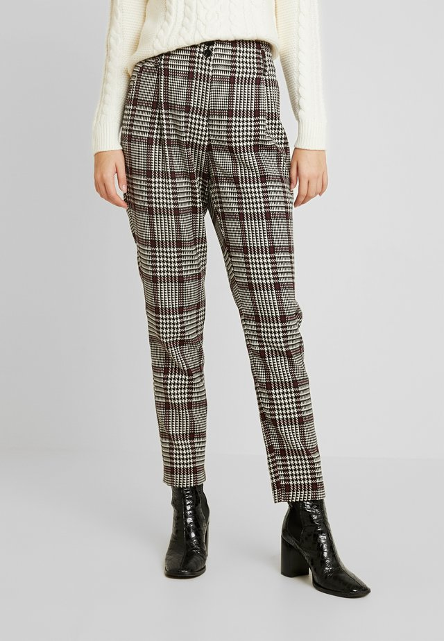 HIGH WAISTED CHECK TROUSER - Bukse - red