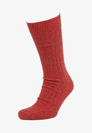 Socks - scorched red neps