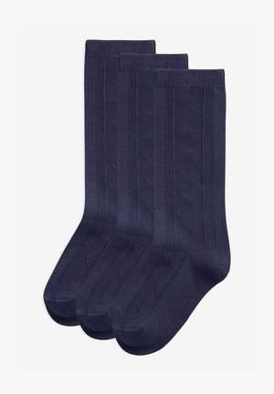 THREE PACK  - Knee high socks - dark blue