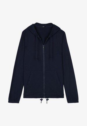 MIT REISSVERSCHLUSS UND TUNNELZUG - Zip-up hoodie - blu assoluto