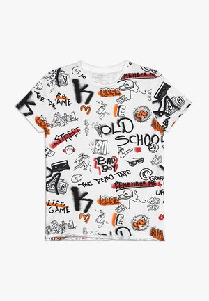 NKMBARANO - Print T-shirt - bright white