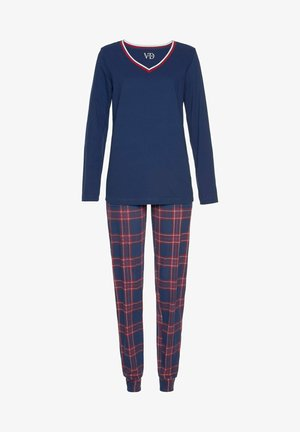 SET - Pyjama set - blau rot weiß