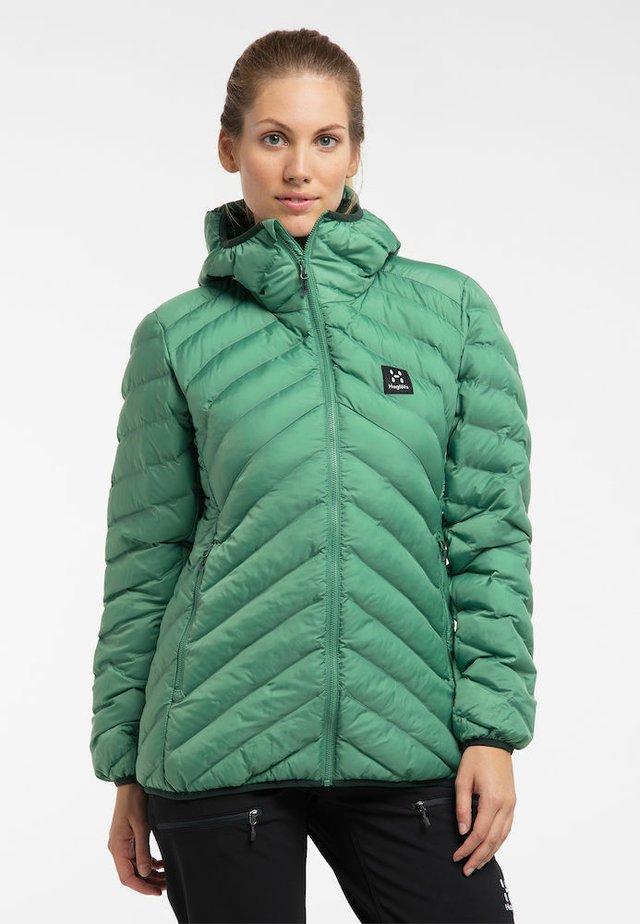 SÄRNA MIMIC HOOD - Winter jacket - trail green