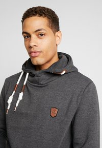 INDICODE JEANS - NEVILLY - Sweat à capuche - charcoal mix - 3