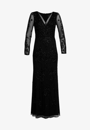 BEADED SWIRL LONG DRESS - Společenské šaty - black