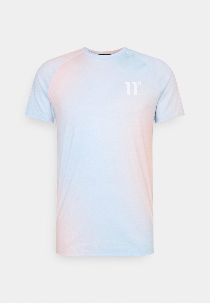 11 DEGREES - SUNBURST SUBLIMATION MUSCLE FIT - Print T-shirt - powder blue/peach blush