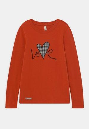 GIRLS LOVE LONGSLEEVE - T-shirt à manches longues - ziegelrot reactive