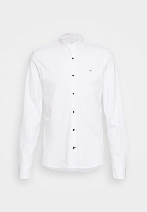 SLIM STAND COLLAR  - Long sleeved top - white