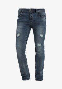 Only & Sons - LOOM BREAKS - Slim fit jeans - dark blue denim - 4
