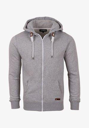 RIVTHILO - Zip-up sweatshirt - grey melange