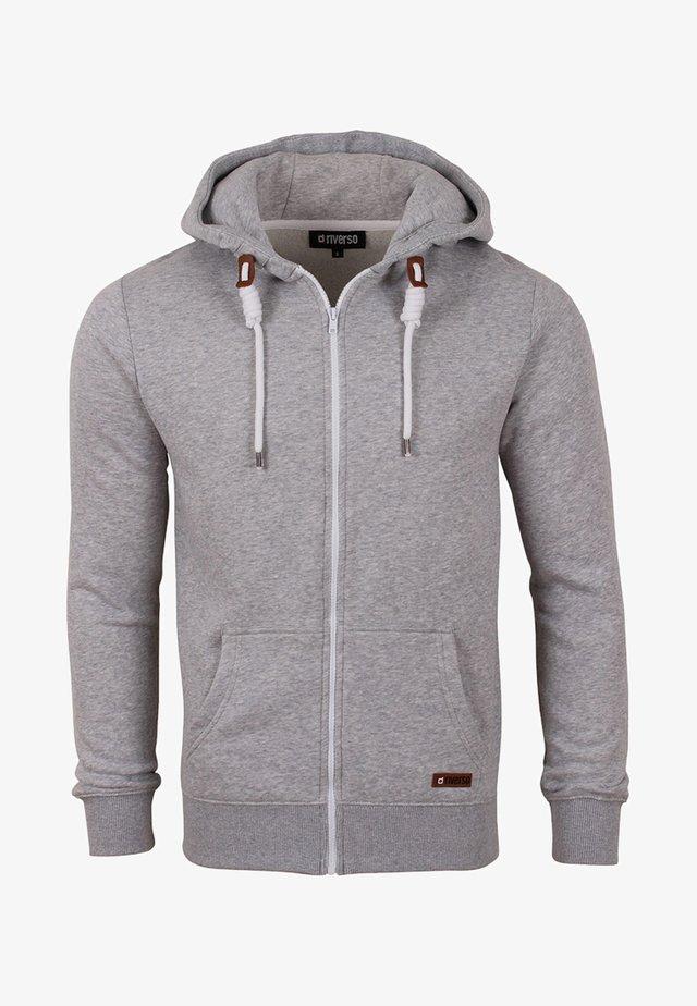 RIVTHILO - Zip-up hoodie - grey melange