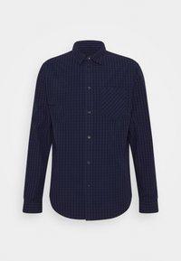 mottled grey/blue