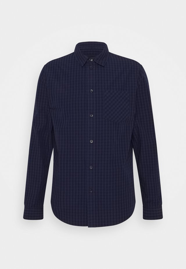 Shirt - mottled grey/blue