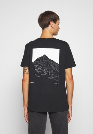 JCOSCALE TEE CREW NECK  - T-shirt med print - black