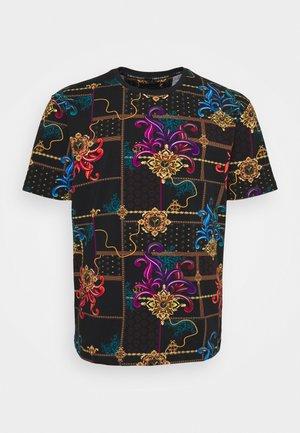 OVERALL PRINT BIG - Print T-shirt - black