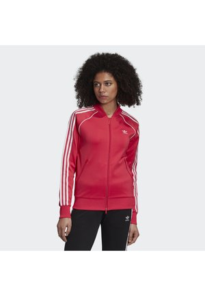 TRACKTOP - Treningsjakke - power pink/white